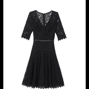 NWT Rebecca Taylor Black Lace Dress
