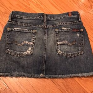 7 For All Mankind Skirts - 7 for all mankind Denim miniskirt size 26