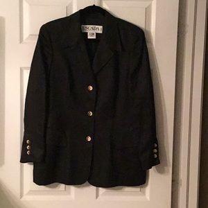 Gorgeous Vintage Black Linen Escada Jacket