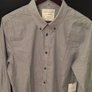 NWT Five Four dress shirt navy/white Nick Wooster