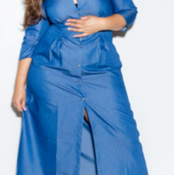 Dresses | Plus Size Maxi Jean Dress | Poshmark
