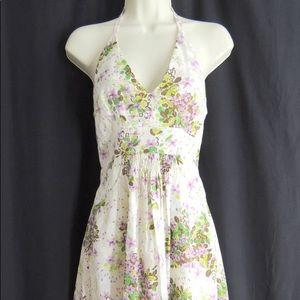 Anna Sui for Anthropologie Floral Halter Dress