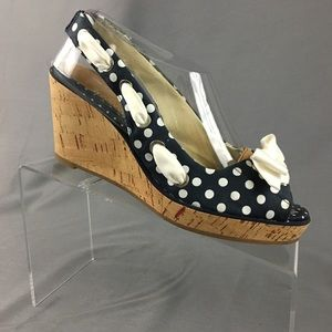 Sperry Top Sider Southport Polka Dot Cork Wedges