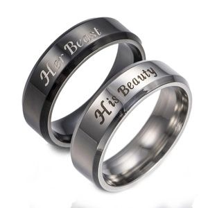 Jewelry - His Beauty Her Beast Couples Lovers Promise Ring