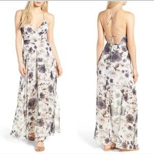 Surplice Strappy Maxi Dress