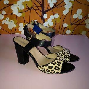 Sole Society Leopard Sandal