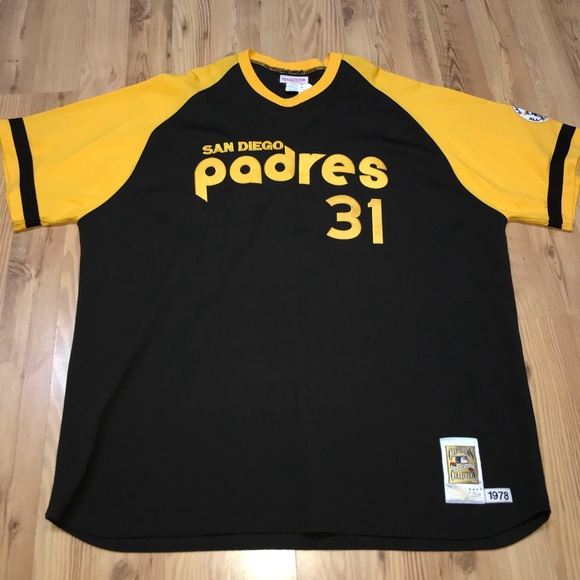premium selection cded7 75be3 Throwback Mitchell & Ness San Diego Padres Jersey