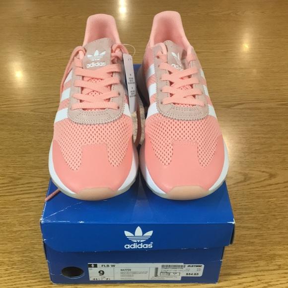 adidas Flashback Haze Coral & White Shoes Zumiez    adidas Sko   title=         Nwt Flashback Haze Coral Sneakers Sz 9          Poshmark