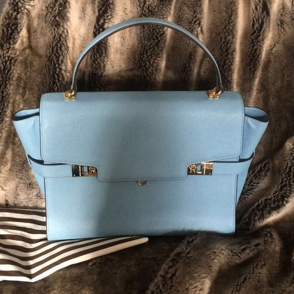henri bendel Bags   Uptown Satchel In Dusk Blue Sale   Poshmark 7b45511b8d
