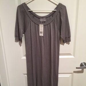 Michael Stars gray metallic shimmer dress.