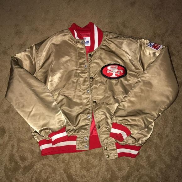 premium selection e9c69 01754 AUTHENTIC PRO LINE NFL SF 49ER NINER BOMBER JACKET