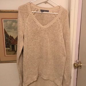 EUC Cream Sweater by 360 Sweater sz med