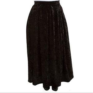 Vintage Velvet Skirt Black Stretch 1X 18W 20W