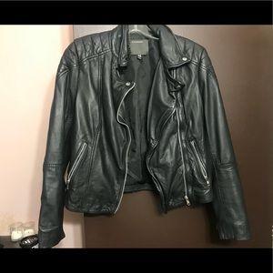 Black Biker leather jacket‼️