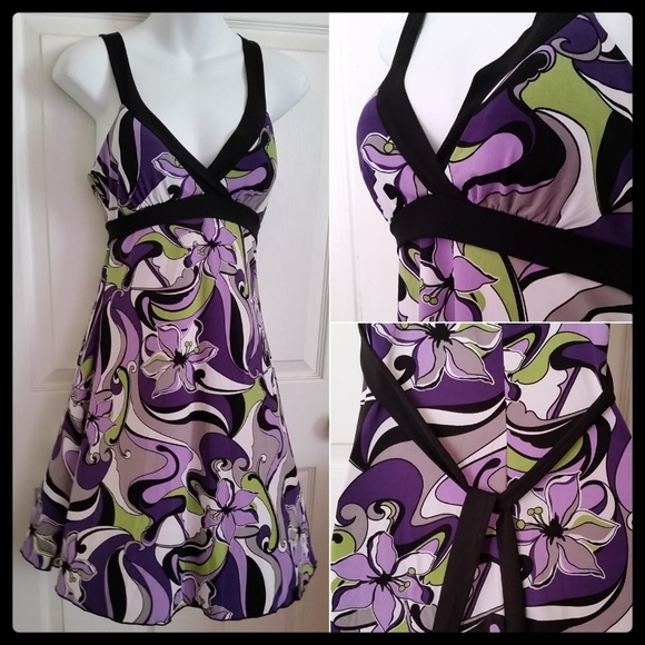 Speechless Dresses & Skirts - Beautiful Purple Flower Print DRESS NWT