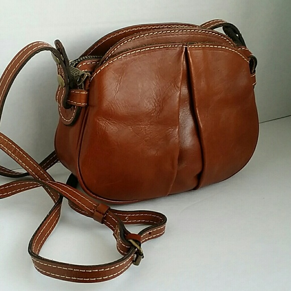 fee1e88e0 Patricia Nash Veg Tan Leather Chania Crossbody bag.  M_5a25e4b699086af090001387
