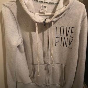 Pink VS clothing line Love Pink Hoodie in Grey