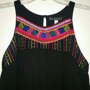 Billabong Embroidered and Beaded Dress