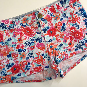 💎New Item💎 White Floral Chino Shorts 00200