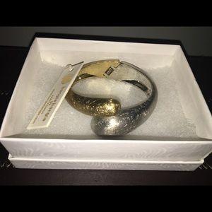 Amrita Singh cuff gold & silver bangle