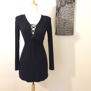 Vintage 90's Miss Sixty Long Sleeved Lace-up Dress