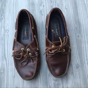 Timberland loafer boat shoes cognac brown 7.5