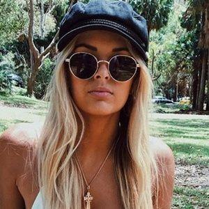 Round wire sunglasses