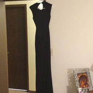 Rachel Zoe cut out back Selma gown Black