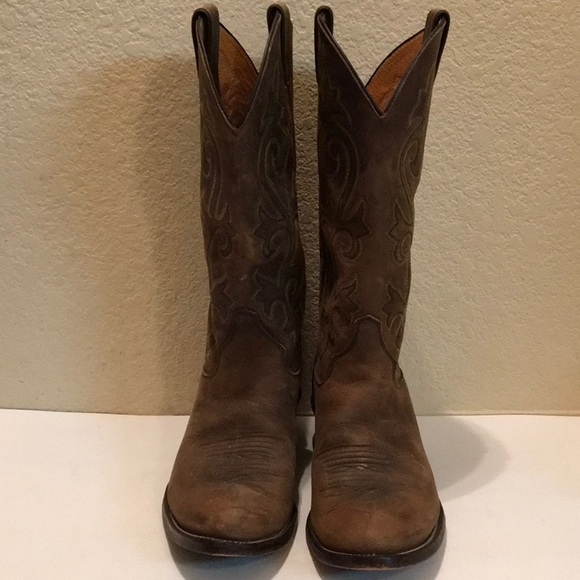 a50bc78b088 JUSTIN Men's Classic BROWN APACHE Western BOOTS 9D