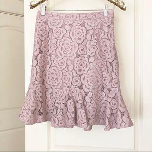 Cynthia Rowley Blush Lace Skirt