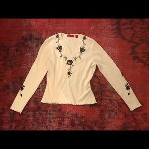 Vintage Embroidered Floral Top