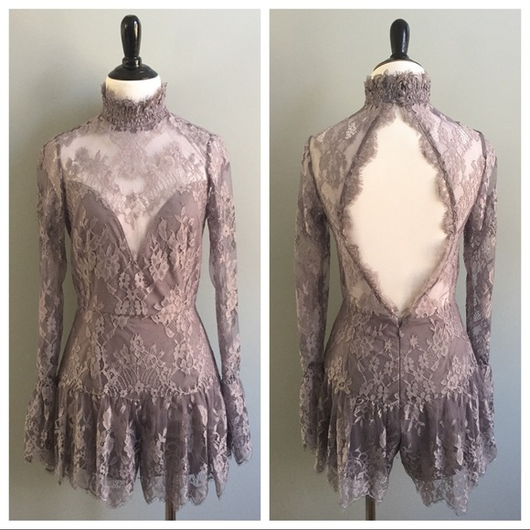 2e22b66cd10 Saylor Free People Nellie lace romper