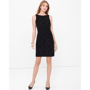 White House Black Market Velvet Burnout Dress