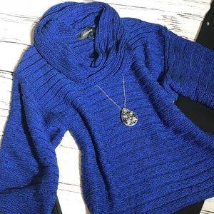 Cobalt Blue Cowl Neck Oversized Sweater Small