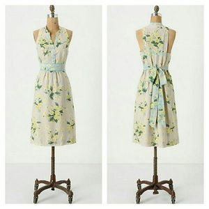 Maeve Anthropologie Dutch Yellow Shift Dress
