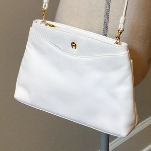 ETIENNE AIGNER White Leather Purse