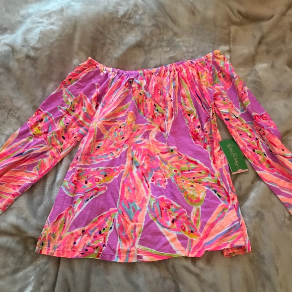 fae2f5c72deb70 NWT Lilly Pulitzer Enna Off the Shoulder Top