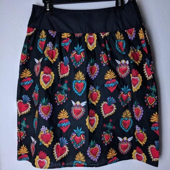 9e90e3733 hemet Dresses & Skirts - Hemet Mexican milagros skirt ...