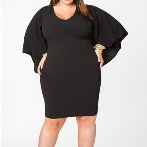 Ashley Stewart Textured Knit Cape Dress!