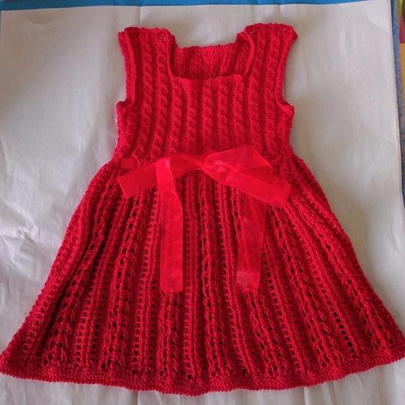 24d62bd9091e Dresses | Hand Knitted Baby Girl Cotton Dress 012 Months | Poshmark