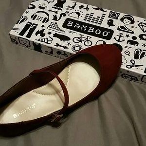 Brand new in box! Bamboo maroon flats