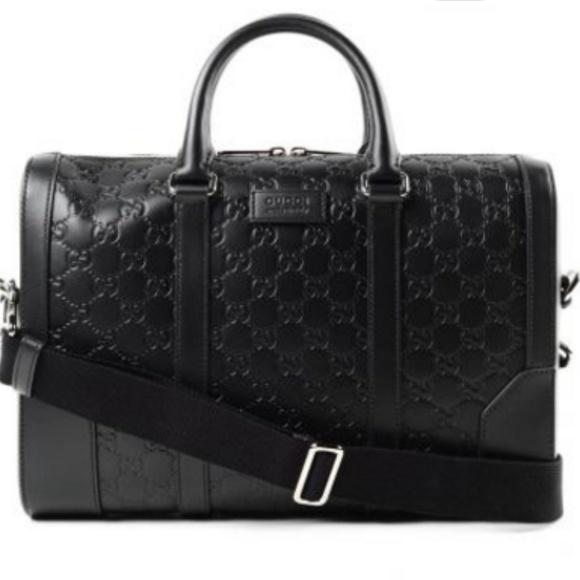 2c45958acdd3fc Gucci Bags | Signature Leather Briefcase Crossbody Bag | Poshmark