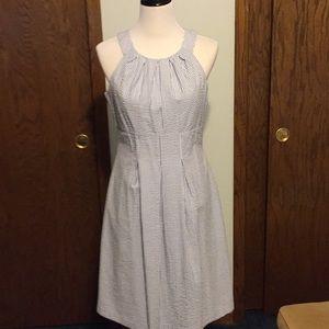 Nine West summer cotton light blue dress