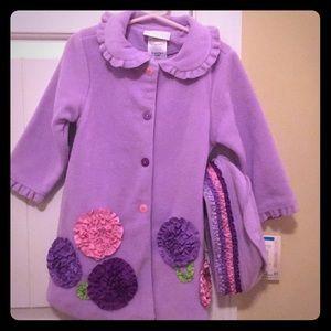 24 month Purple Pea coat w/ matching hat