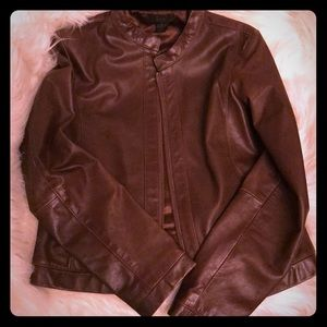 Leather brown Moto jacket