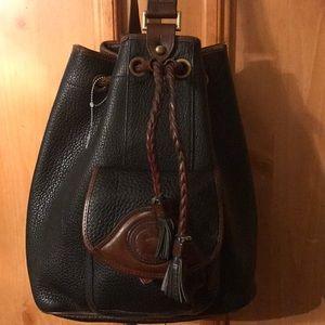 Dooney & Bourke vtg. Black pebbled backpack purse