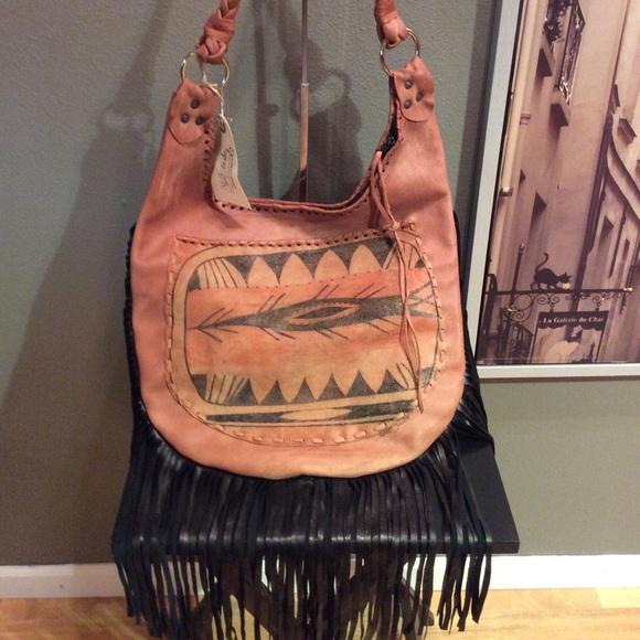 b59f30d417 SALE❄️Fringe leather boho bag