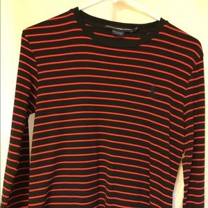 Ralph Lauren Polo Sport Black and Red Top