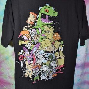 Nickelodeon Men's Button up Baseball Tshirt
