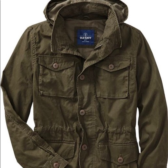701b7d1b609 Old Navy men hooded military style canvas jacket